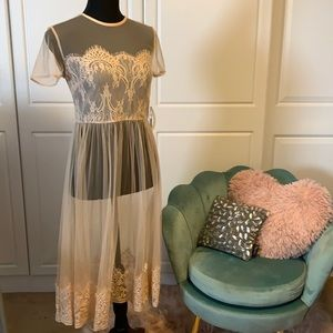 Forever 21 Nude See Through Dress